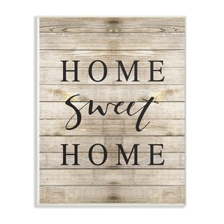 The Stupell Home Decor Collection Home Sweet Home Family Typography Wall Plaque Art, 10 x 0.5 x 15, Made in USA