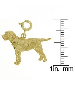 14k Gold Retriever Charm