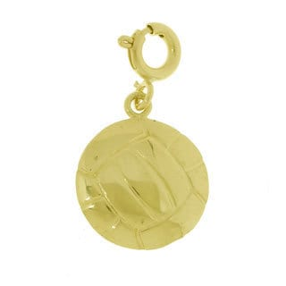 14k Yellow Gold Volleyball Charm