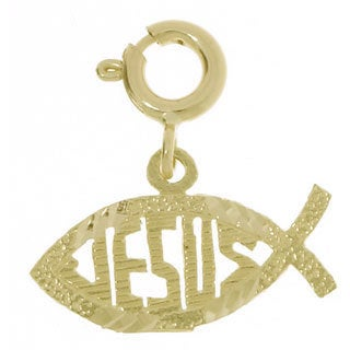 14k Gold Ichthyus Charm