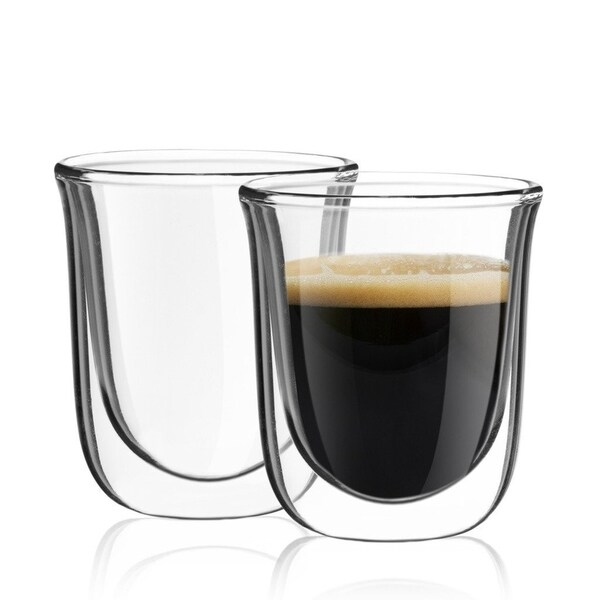 JoyJolt Javaah Double Wall Espresso Glasses, 2 Ounce Set of 2 Nespresso Cups 35345704