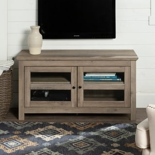 Macaulay 44-inch Grey Wash Finish 2-Door TV Stand Console