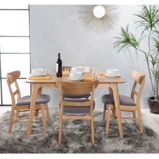 Carson Carrington Ballerup 5-piece Wood Rectangular Dining Set by