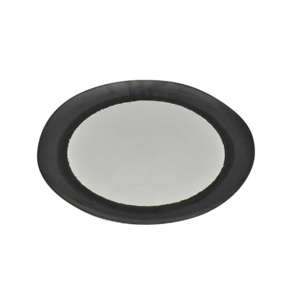 Sagebrook Home 13052-05 Decorative Ceramic Plate, Gun Metal Ceramic, 15.25 x 15 x 1.25 Inches 35381940