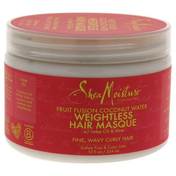Shea Moisture Fruit Fusion Coconut Water 12-ounce Weightless Masque 35385287