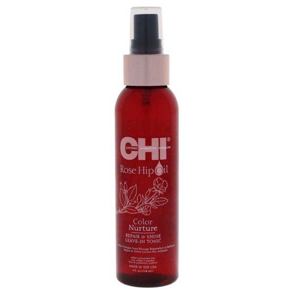 CHI Rose Hip Oil Color Nurture 4-ounce Repair & Shine Leave-In Tonic 35385692