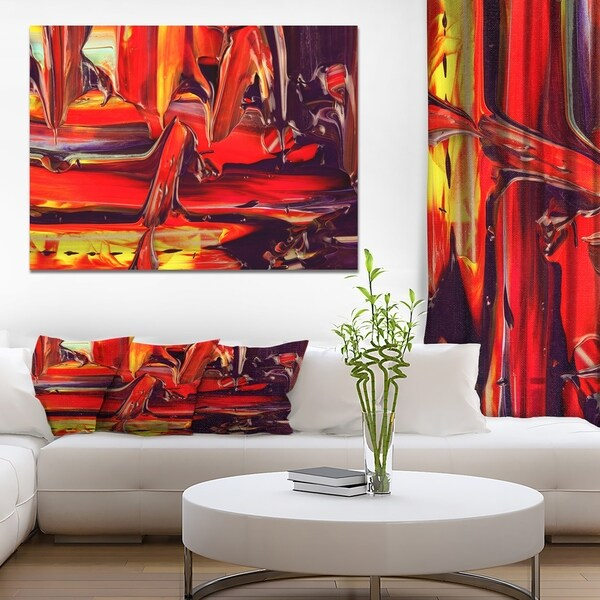 Designart 'Oil paint of the artist on a palette' Contemporary Art on wrapped Canvas 35420618