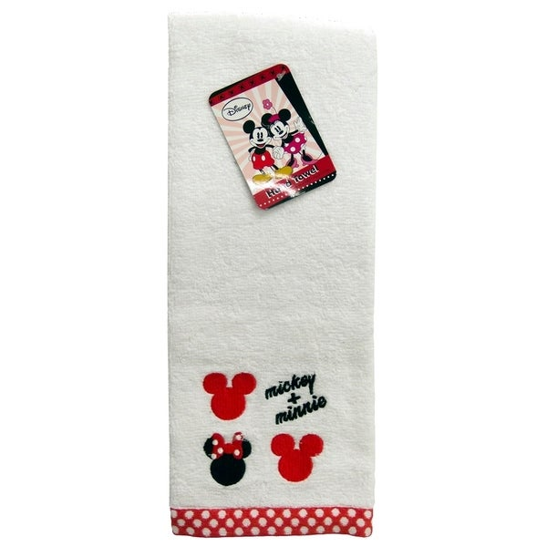Disney Mickey Mouse/Minnie Mouse Cotton Embroidered Hand Towel 35428897