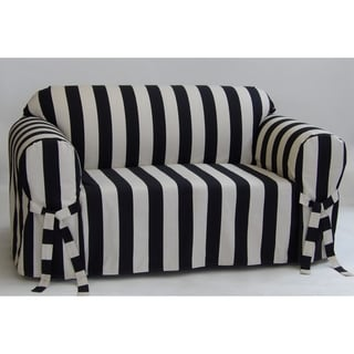Classic Slipcovers Cabana Stripe One Piece Loveseat Slipcover