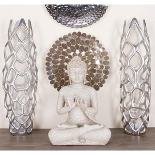 Silver Orchid Olivia Silvertone Aluminum Decorative Vase