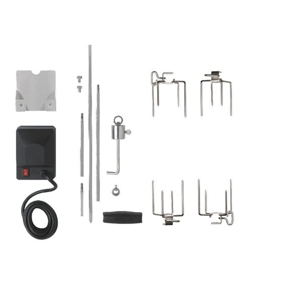 Heavy Duty Rotisserie Kit for Medium Grills 35466389