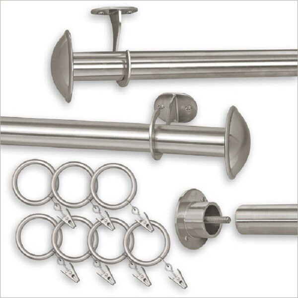 Pinnacle Indoor/Outdoor Adjustable Curtain Rod - 144-240 (As Is Item) 35469175