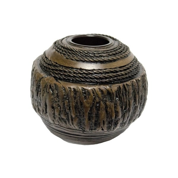 Sagebrook Home 11392 Resin Votive Candle Holder, Wood Look Polyresin, 5.25 x 5.25 x 4.5 Inches 35476293