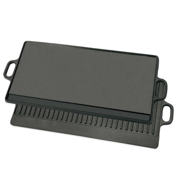 Large Cast Iron  Double Side Reversible Grill Griddle Stovetop - BBQ 35490123