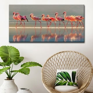 Flamingo' Coastal Wrapped Canvas Wall Art