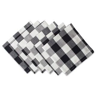 Design Imports Black Buffalo Check Napkin Set (Set of 6)