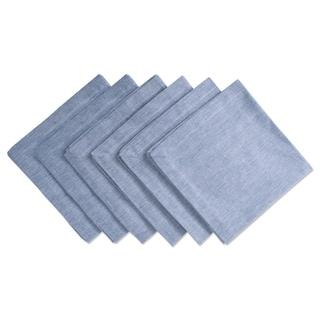 Design Imports Blue Solid Chambray Napkin Set (Set of 6)