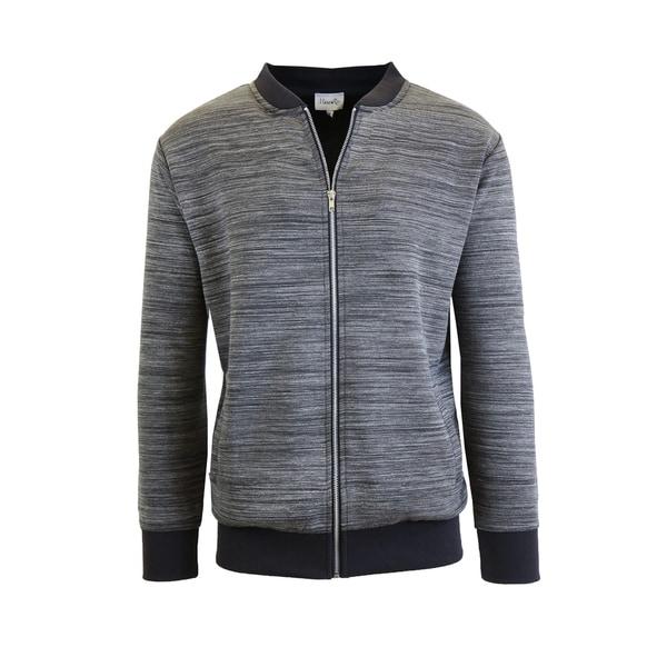Men's Marled Full Zip Stretch Sweater Jackets 35603639