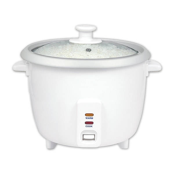White Automatic Rice Cooker & Warmer - Electric 16 Cups Cooked Rice Cooker 35635863