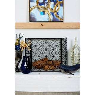 Strick & Bolton Buri Dark Metal Fire Screen