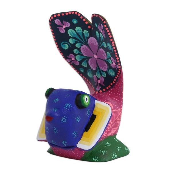 Wood Alebrije Figurine, 'Fanciful Fish' - Mexico 35672660