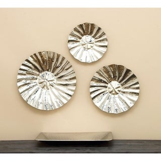 Silver Orchid Mackaill Stainless Steel Wall Disc (Set of 3)