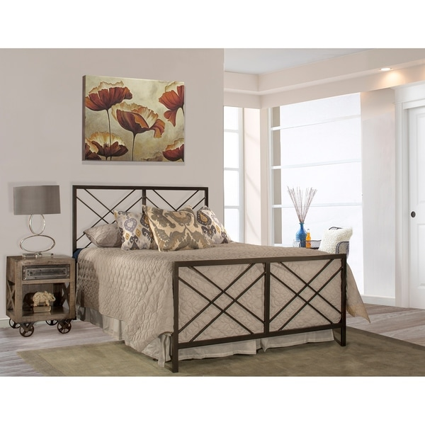 Hillsdale Westlake Pewter-finished Metal Full-size Bed with Metal Bed Rail 35706783