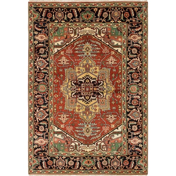 eCarpetGallery  Hand-knotted Serapi Heritage Red Wool Rug - 6'1 x 8'10 35746202