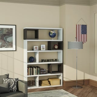 Furniture of America Lewe Contemporary Room Divider/Bookcase