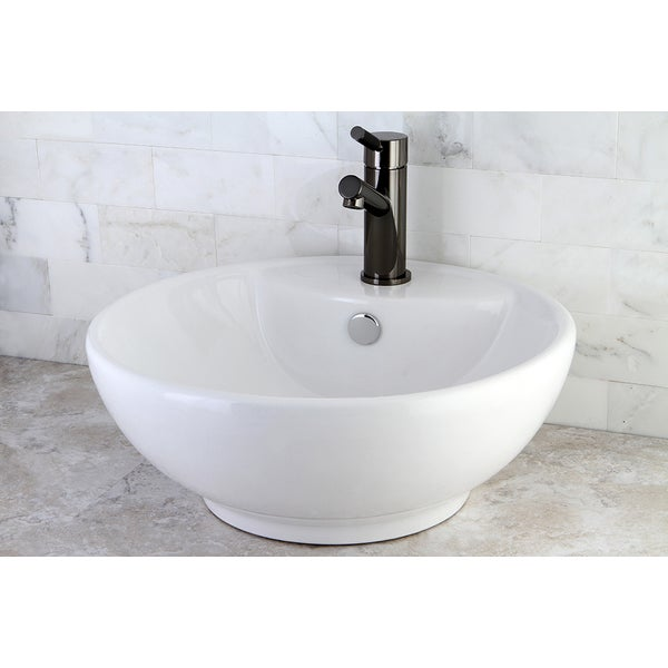 China Sink : Round White Vitreous China Vessel Sink - 10424771 - Overstock.com ...