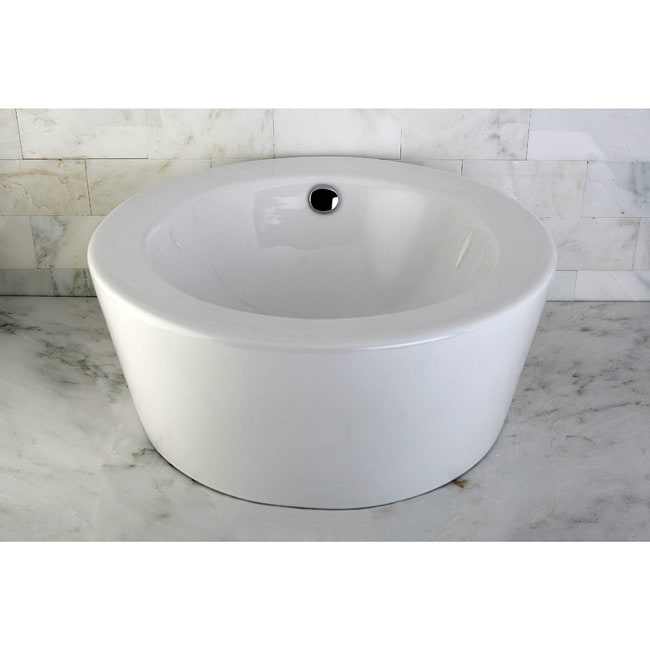 China Sink : Round Vitreous China Sink - 10424800 - Overstock.com Shopping - Great ...