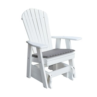 Outdoor Adirondack Style Gliding Chair - Recycled Plastic