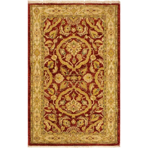 Kafkaz Peshawar Darleen Red/Gold Wool Area Rug (3'0 x 5'0) 35779388
