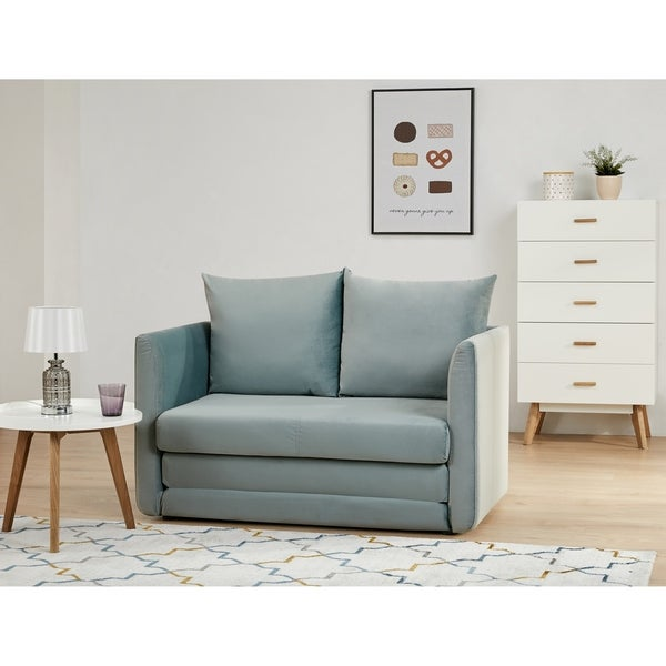 Brighton Azure Convertible Loveseat Sleeper