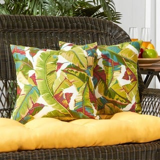 San Elijo 2-piece Palm Leaves Outdoor Accent Pillow Set by Havenside Home - 17w x 17l