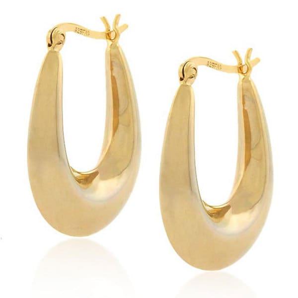 Mondevio 18k Gold and Sterling Silver Hoop Earrings