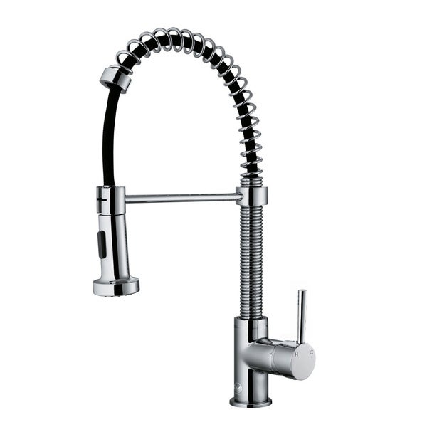 Chrome Pull-Out Spray Swivel Kitchen Faucet