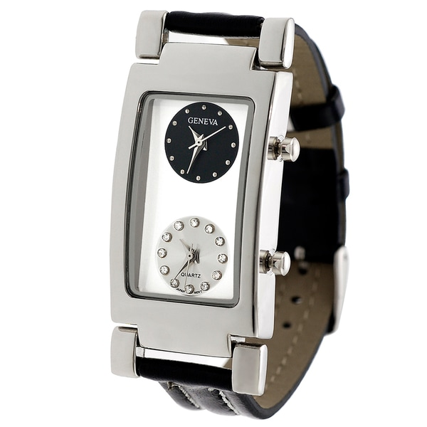 Geneva Men's Two Dial Strap Watch