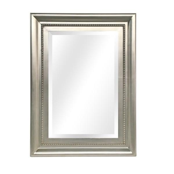 "Giulietta Wall Mirror - Satin Silver - 34 1/4"" x 46 1/4"" 35810849"