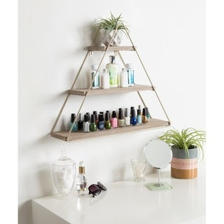 Kate and Laurel Tilde 3 Tiered Triangle Floating Wall Shelf