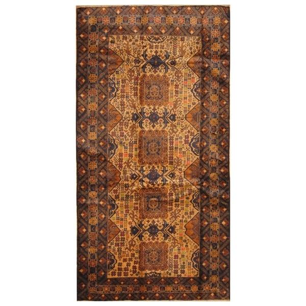 Handmade Herat Oriental Afghan Hand-knotted Tribal Semi-Antique Balouchi Wool Rug (4'3 x 8'1) 35815645