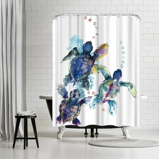 Americanflat 'Baby Sea Turtles 3' Shower Curtain