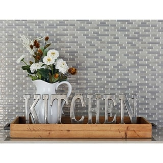 The Gray Barn Whispering Pines Wood and Metal Tray
