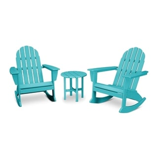 POLYWOOD Vineyard 3-Piece Outdoor Adirondack Chair Set