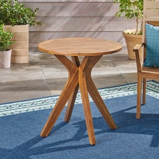 Stamford Outdoor Bistro Table with X Legs by Christopher Knight Home