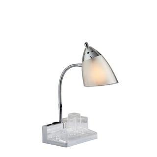 Simplee Adesso White Organizer Desk Lamp