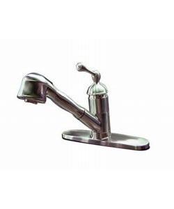 Vintage Satin Nickel Pull Out Kitchen Faucet