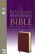 King James Reference Bible: Giant Print, Bonded Leather, Burgundy, Personal-size (Paperback)