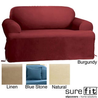 Sure Fit Cotton Classic T-cushion Loveseat Slipcover