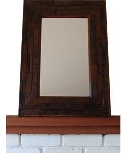 Large Teakwood Wall Mirror , Handmade in , Handmade in Thailand